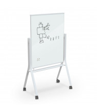 Best-Rite Visionary 3' x 4' Curve Mobile Magnetic Glass Whiteboard, White Frame (Shown in White)