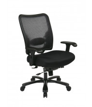 Office Star Big & Tall 400 lb. Double AirGrid Mesh Mid-Back Office Chair (75-37A773)