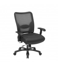 Office Star Big & Tall 400 lb. Double AirGrid Mesh-Back Layered Leather Mid-Back Office Chair (Model 75-47A773)