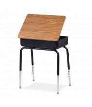 "Virco 24"" x 18"" Lift-Lid Metal Book Box Student Desk, Set of 2"