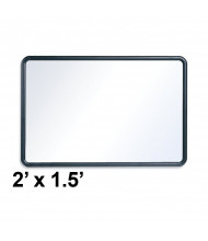 Quartet Contour 2 ft. x 1.5 ft. Black Frame Melamine Whiteboard