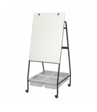 Best-Rite 762 Storage Wheasel Melamine Mobile Easel with Tubs