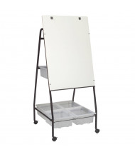 Best-Rite Storage Wheasel Melamine Mobile Easel with Tubs