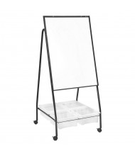 Best-Rite 763 Storage Wheasel Porcelain Mobile Easel with Tubs