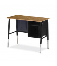 "Virco 34"" x 20"" Junior Executive Metal Student Desk"
