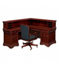 DMI Rue de Lyon 7684 L-Shaped Double Pedestal Reception Desk, Left Return
