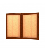 Waddell Messenger 77 Series 2-Door Wall Display Case Message Center 4 x 3 (Shown in Carmel Oak)