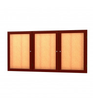 Waddell Messenger 77 Series 3-Door Wall Display Case Message Center 6 x 3 (Shown in Cherry Oak)