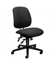 HON 7708 Multifunction Fabric Mid-Back Task Chair, Black