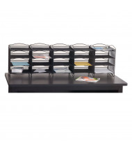 Safco Onyx 20-Compartment Steel Mail Sorter (Tabletop Not Included)