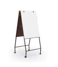"Best-Rite 778 Wheasel 58.5"" to 65"" H Adjustable Folding Melamine Mobile Easel"