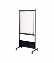 "Best-Rite 781P Nest 28.75"" x 40.75"" Black Porcelain Magnetic Mobile Easel - Accessories not included."