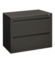 """HON Brigade 782LS 2-Drawer 36"""" Wide Lateral File Cabinet, Letter & Legal Size, Charcoal"""