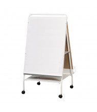 "Best-Rite 784 Baby Folding Wheasel 29.75"" x 43"" Mobile Easel with Tray"