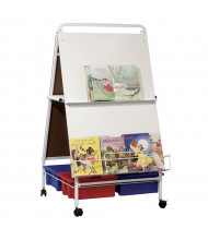 "Best-Rite 784T Baby Folding Wheasel 29.75"" x 43"" Mobile Easel with Tubs"