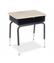 """Virco 24"""" x 18"""" Open Front Metal Bookbox Student Desk, Set of 2"""