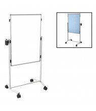 "Best-Rite 795AC-HV Modifier XV Dura-Rite / Vinyl 28"" x 41"" Adjustable Height Mobile Easel (Both Sides Shown)"