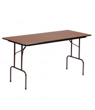"Correll 72"" W x 30"" D x 36"" H 0.75"" High Pressure Top Rectangular Counter Height Folding Table"