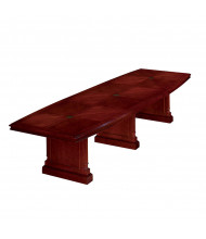 DMI Furniture 7990-168EX Keswick 14 ft Boat-Shaped Expandable Conference Table