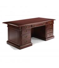 """DMI Keswick 72"""" W HPL Straight Front Double Pedestal Office Desk"""