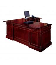 """DMI Keswick 66"""" W L-Shaped Straight Front Double Pedestal Office Desk"""
