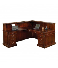 DMI Keswick 7990 L-Shaped Laminate Double Pedestal Reception Desk, Left Return