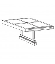 "DMI Furniture Keswick 7990-903233 48"" Center Section Top and Base"