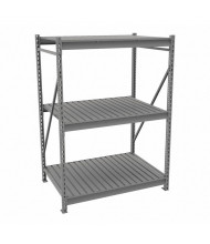 "Tennsco 24"" D 3-Shelf Corrugated Deck Bulk Storage Units"