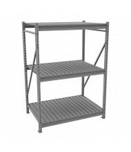 "Tennsco 36"" D 3-Shelf Corrugated Deck Bulk Storage Units"