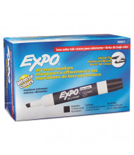 Expo Low-Odor Dry Erase Marker, Chisel Tip, Black, 12-Pack