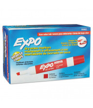 Expo Low-Odor Dry Erase Marker, Chisel Tip, Red, 12-Pack