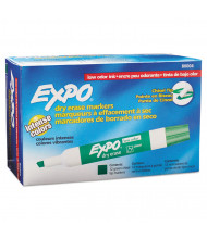 Expo Low-Odor Dry Erase Marker, Chisel Tip, Green, 12-Pack
