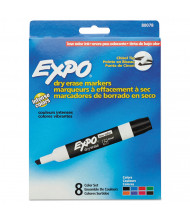 Expo Low-Odor Dry Erase Marker, Chisel Tip, Assorted, 8-Pack