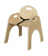 "Wood Designs Woodie 13"" H Classroom Chair with Belt Strap"