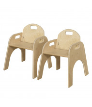 "Wood Designs Woodie 13"" H Classroom Chair, 2-Pack"