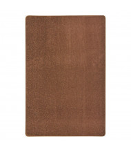 Joy Carpets Endurance Solid Color Classroom Rug, Brown