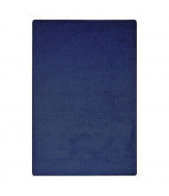 Joy Carpets Endurance Solid Color Classroom Rug, Midnight Sky