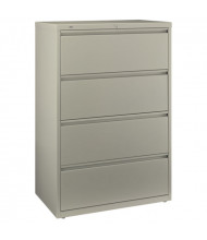 "Bush 80FL436 4-Drawer 36"" W Lateral File Cabinet, Letter & Legal (Putty)"