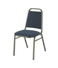 "KFI Seating 810 Fabric 1.5"" Padded Seat Stacking Chair (Denim Blue / Textured Mocha)"