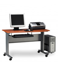 "Mayline Eastwinds 8100TD 57"" W Laminate Mobile Computer Workstation (Shown in Medium Cherry)"