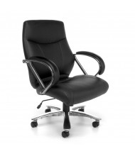 OFM Avenger 811-LX Big & Tall 500 lb. Leather Mid-Back Executive Office Chair (black)