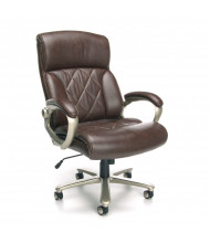 OFM Avenger 812-LX-BRN Big & Tall 400 lb. Leather High-Back Executive Office Chair (in brown)