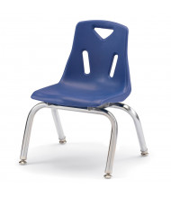 "Jonti-Craft Berries 10"" H Stacking Chairs with Chrome Legs, 6-Pack (Shown in Blue)"