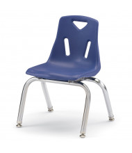"Jonti-Craft Berries 12"" H Stacking Chairs with Chrome Legs, 6-Pack (Shown in Blue)"
