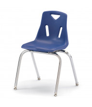 Jonti-Craft Berries Stacking Chairs with Chrome Legs, 6-Pack (Shown in Blue)