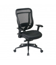 Office Star Multifunction Mesh-Back Leather High-Back Executive Chair