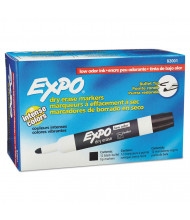 Expo Low-Odor Dry Erase Marker, Bullet Tip, Black, 12-Pack