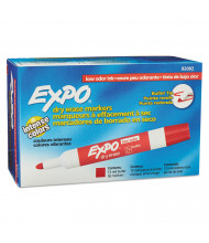 Expo Low-Odor Dry Erase Marker, Bullet Tip, Red, 12-Pack