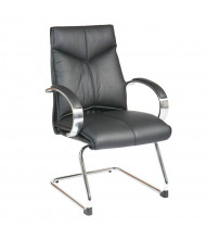 Office Star Pro-Line II Deluxe Top Grain Leather Mid-Back Guest Chair