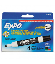 Expo Low-Odor Dry Erase Marker, Bullet Tip, Assorted, 4-Pack